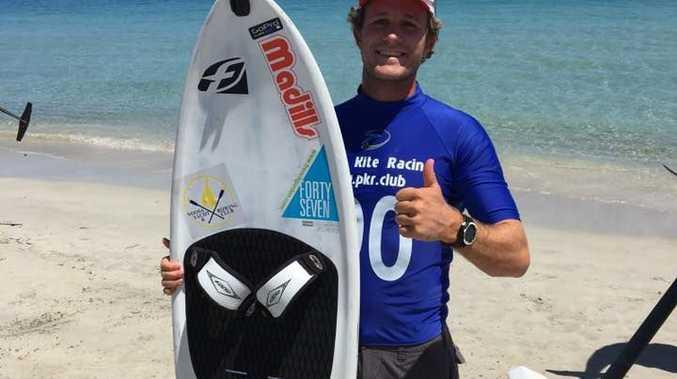 Ryan Palk in Perth for last weekend's state Kiteboard titles.