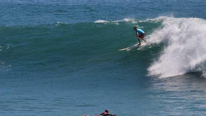 Swell is still building. Alexandra Headland at 10.30. Photo: John McCutcheon / Sunshine Coast Daily