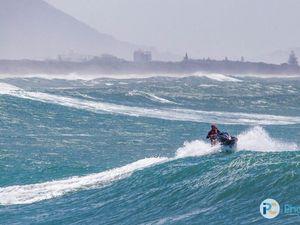 Cyclonic surf on the Sunshine Coast