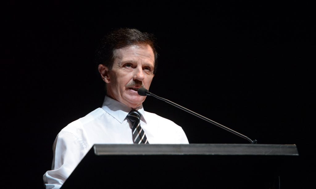 Bruce Diamond at the 2016 Rockhampton Regional Council Mayoral Debate held at the Pilbeam Theatre. Photo: Chris Ison / The Morning Bulletin