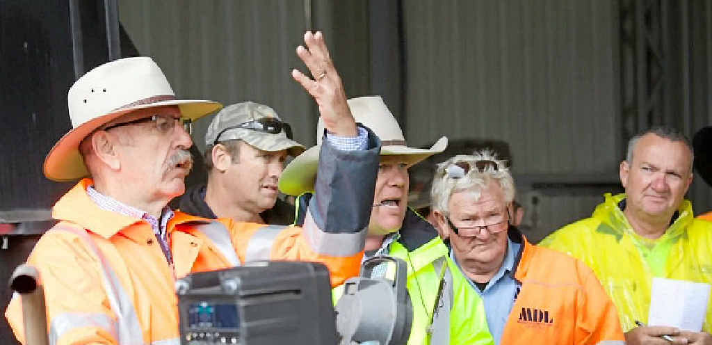 BIDDERS PARADISE: Hassalls' Steve Wall at an auction last month. Contributed: Hassalls.