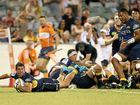 STAR MAN: Tomas Cubelli scores one of the Brumbies' tries in the 52-10 win over the Hurricanes.