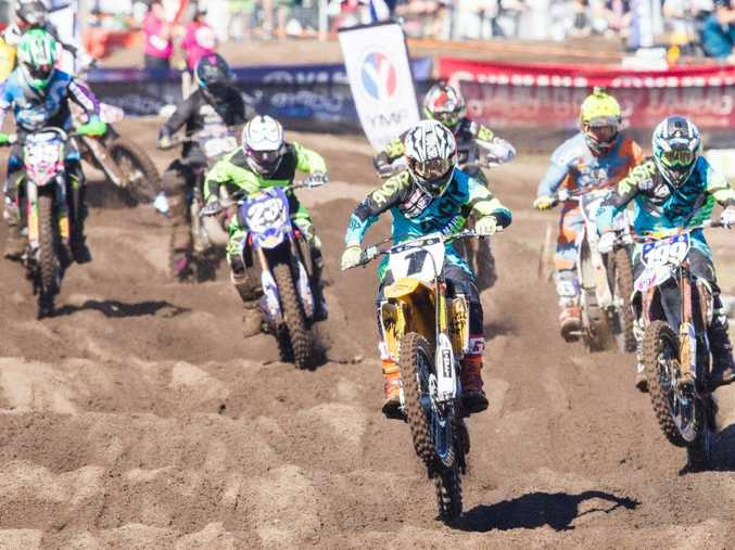 Motocross action at Coolum.