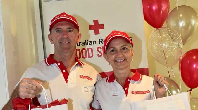 TOP EFFORT: Brent and Lu Crosby, of Team Adem, received a special mention for their efforts in Red 25, the group donation program run by Red Cross.