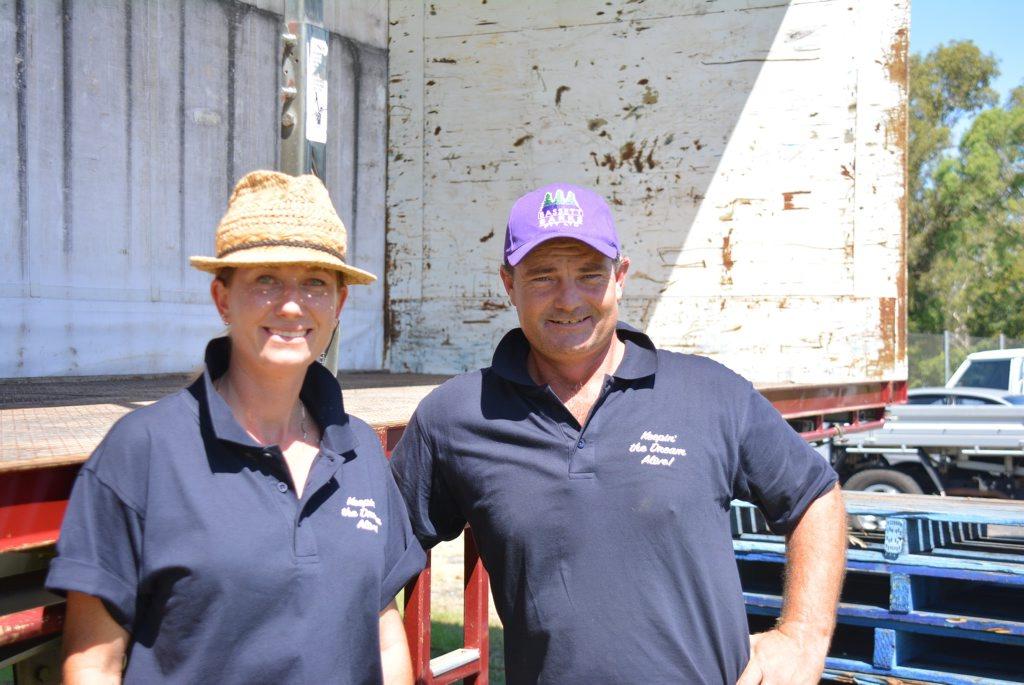 Brendan Farrell and Jodi Finnegan at Murgon Golf Club.