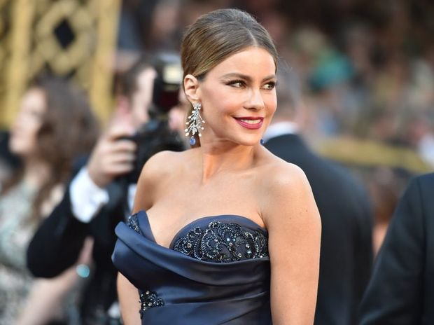 Sofia Vergara arrives at the Oscars at the Dolby Theatre in Los Angeles.