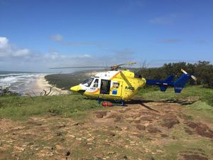 Toddler airlifted from Fraser Island