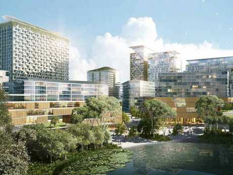 BIG PLANS: An impression of what the proposed $6 billion apartment complex would look like.