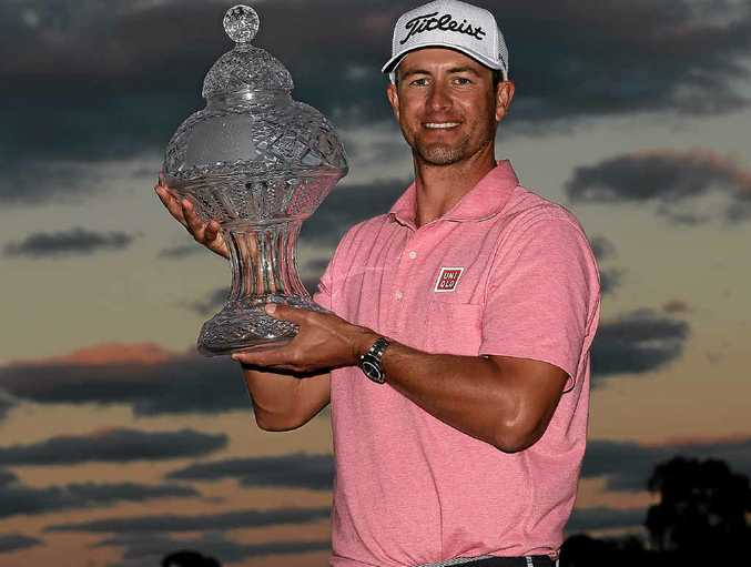 DROUGHT-BREAKER: Adam Scott after his one-shot victory in the Honda Classic at Palm Beach Gardens, Florida.