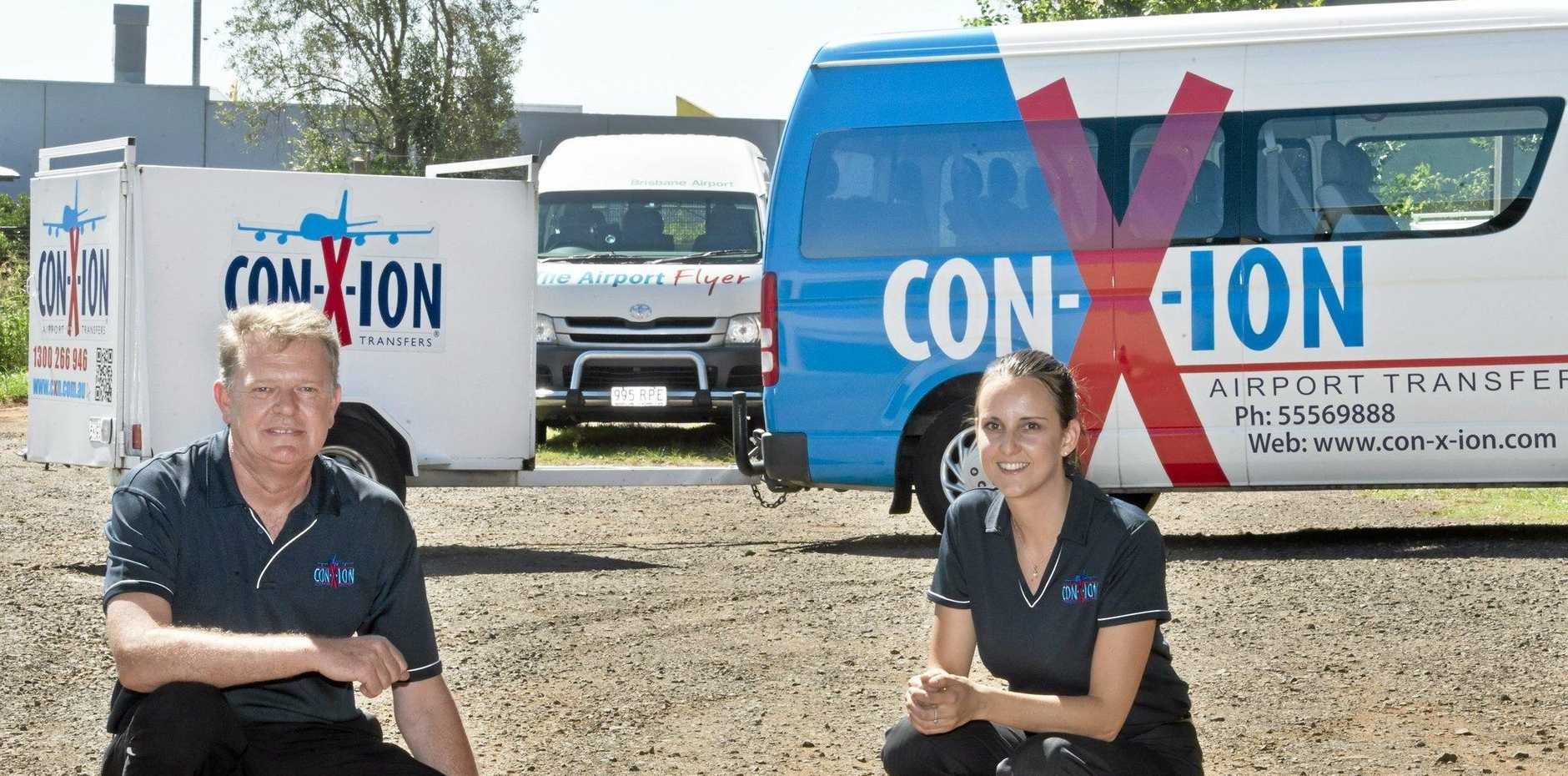 GET CONNECTED: Con-X-ion general manager David Goodenough and business development manager Liana Jones launch their Saturday service this week.
