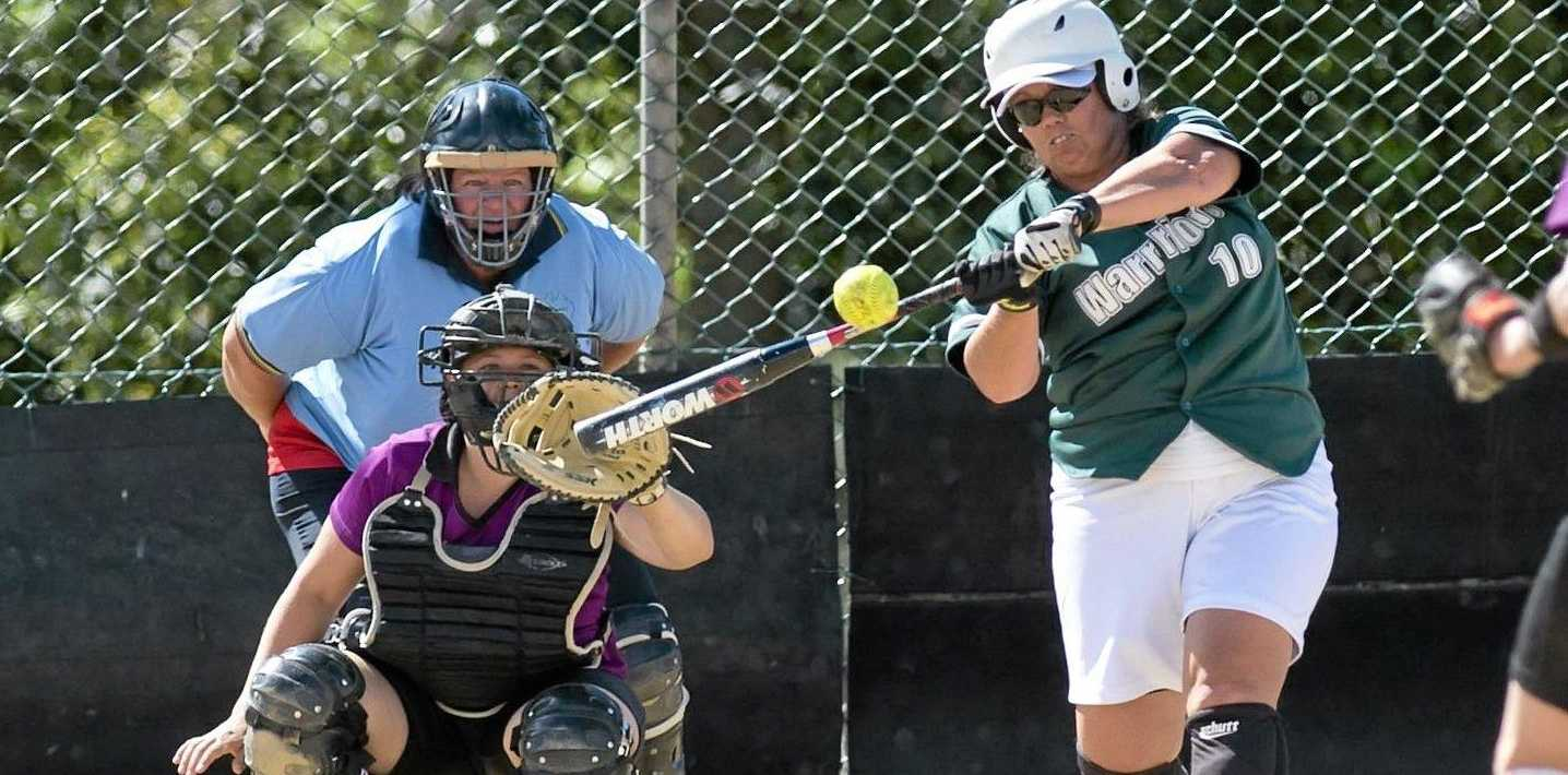 HOME RUN: Kellie Oates hits Warriors/Aces into the grand final