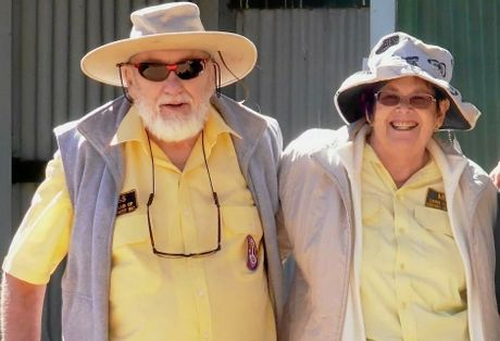 Russ Hamilton (pictured with partner Meg Hatfield) died on Friday, February 26 at about 4.35am at Crows Nest.