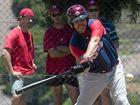 HITTING AT HOME: Mick Locke bats for Toowoomba Rangers in Pacific League baseball.