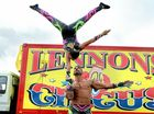 Lennon Bros Circus father and daughter hand to and act Amina and Mohammed Jratlou. Photo Cathy Adams / The Northern Star