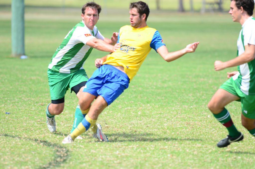 Ryan Delanhunty goes for the goal for Kawana. Photo Katherine Morris / South Burnett Times