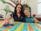 St. James Lutheran College - award winning learning support teacher aide Stephanie Conroy with 11 yr old Ethan Parry. Photo: Alistair Brightman / Fraser Coast Chronicle