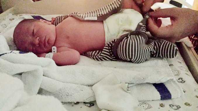 On 25th February at 1.20 am Dorian Cain (Gutter Boy) was born in the gutter outside the front of Ipswich Hospital with an army of medical aid to assist his grimy entrance into the world. Photo: Contributed