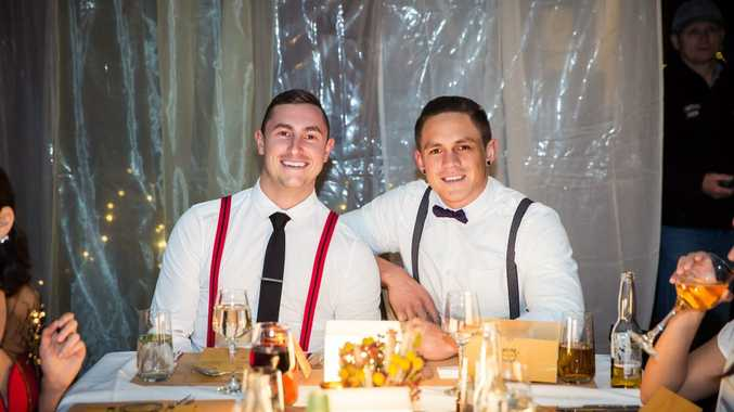 My Kitchen Rules contestants Alex and Gareth.