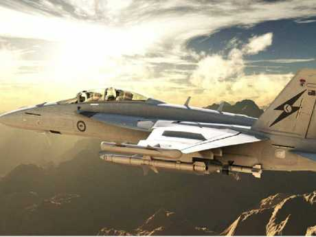 NEW ARRIVAL: The EA-18G Growler aircraft – a specialised version of the Super Hornet – will be based at Amberley as part of a $1.5 billion investment in the base.