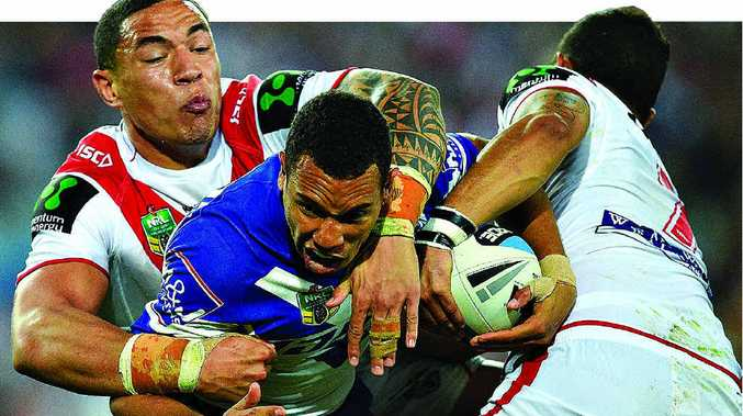 BIG YEAR LOOMS: Noosa's Moses Mbye, of the Bulldogs, is ready for a breakthrough season in the NRL.