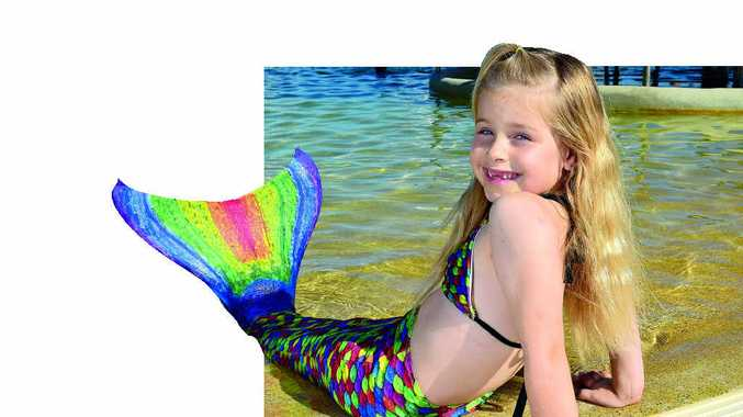 SPLASH: Savannah Ferris loves her mermaid tail, but is always supervised.