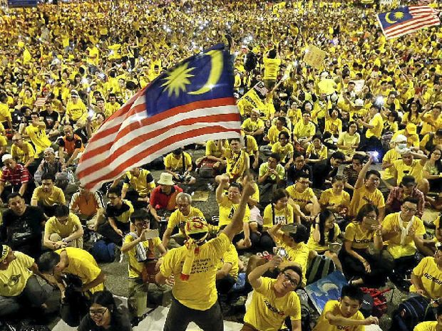 OUTRAGED: Malaysian protesters rally in Kuala Lumpur in August last year as part of an ongoing campaign to force the resignation of Prime Minister Najib Razak.