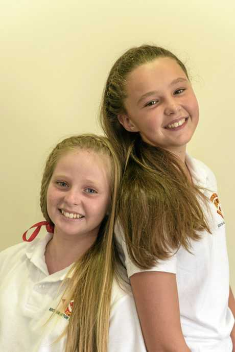 Madison Nicholl and Tahlia O'Hara are having their hair cut off and donating it to be made into wigs for cancer patients.