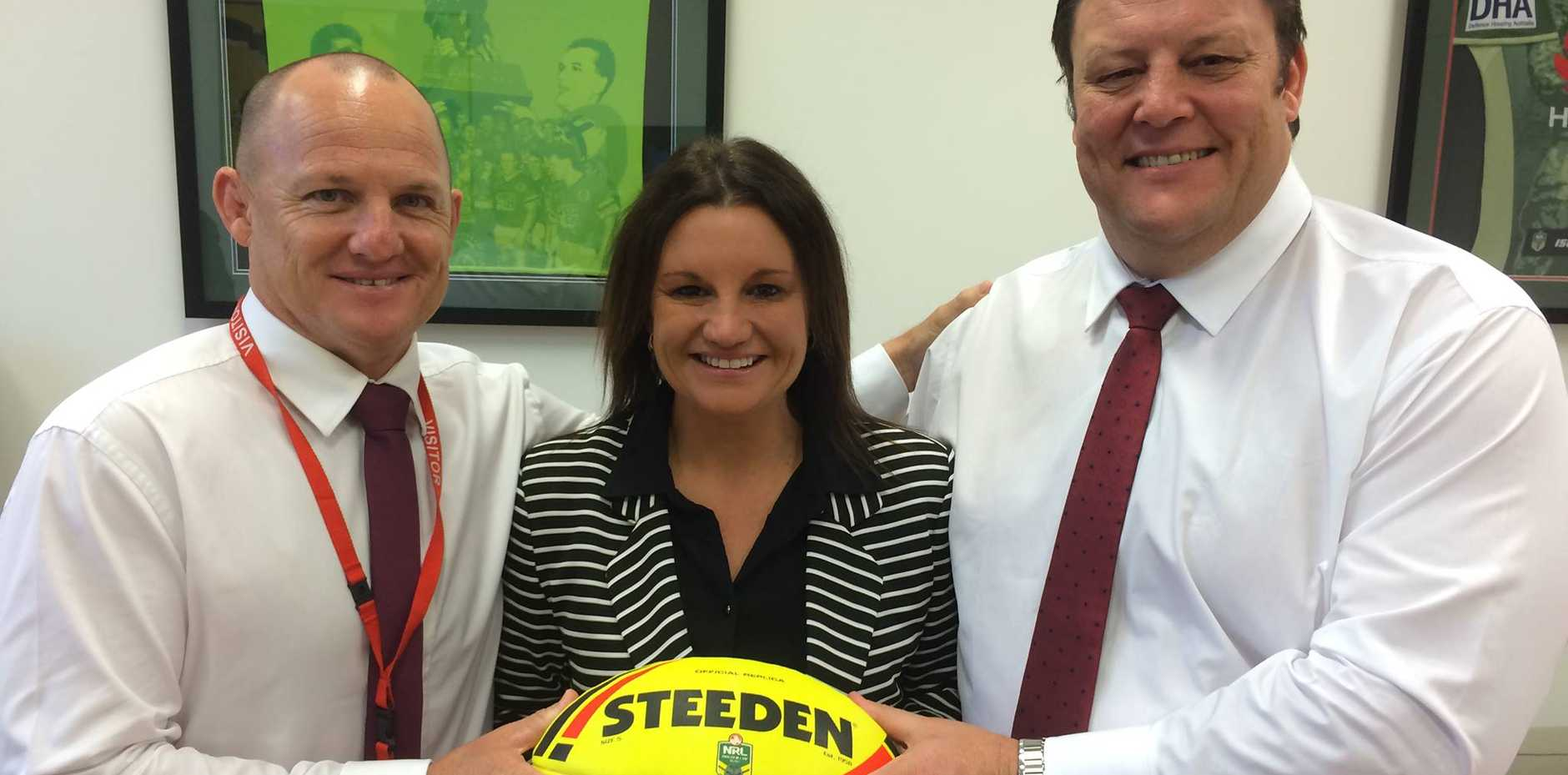 'Everyone wants to be part of the Glenn Lazarus Team and play with our balls...even Jacqui!'
