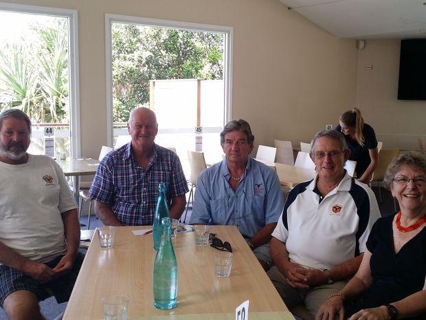 OUR PAST: David Woithe, Tony Frost, Patrick Roach, Ross Bartlett, Helen Bartlett reminisce the history of the Sunshine Beach Surf Life Saving Club.