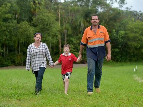 Kurt Semple, his wife Tiana and son Dylan have been told to move on for health and safety reasons.