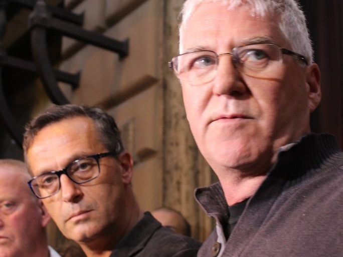 ON THE SPOT: Child sex abuse survivors David Ridsdale and Phil Nagle are in Rome to hear Cardinal Pell.