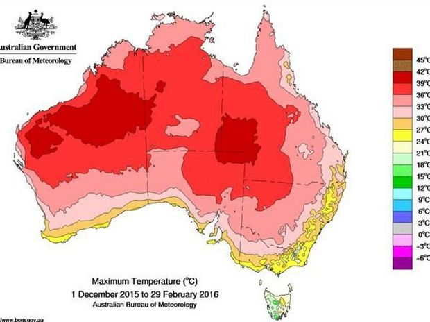 The El Nino weather pattern in Queensland will extend summer by a month, pushing back autumn. Contributed: BOM.