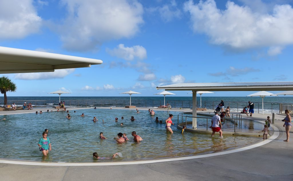 Image for sale: Good Morning Kings Beach. The beachfront pool at Kings Beach has the best view in town. Photo: Che Chapman / Sunshine Coast Daily
