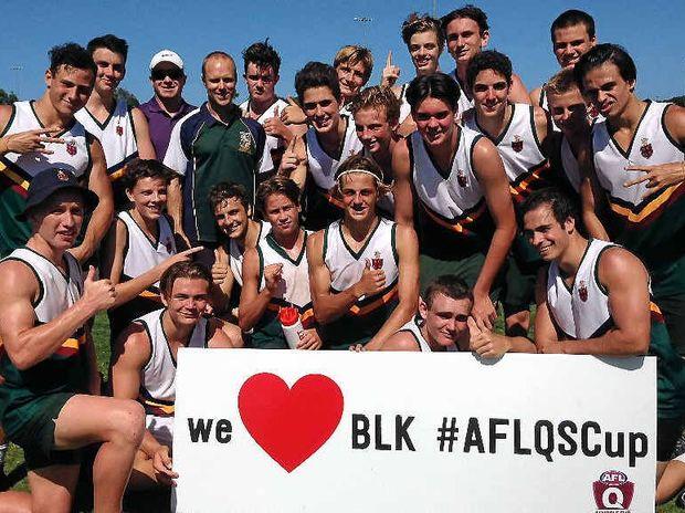 BEST IN THE REGION: The winning Sunshine Coast Grammar School senior male team.