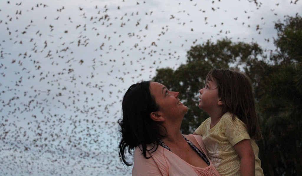 BAT GIRLS: Danielle Crawford and her daughter, Ava.