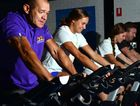 READY TO RIDE: Daryl Te-nadii, Grace Kaihan, Sam Nisbet and Miguel Rojana at Miguel's 24 Fitness, Buderim prepare for the 48-hour bike ride.