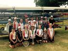 TROPHY WINNERS: The successful members of the Lower Clarence Rowing Club team.