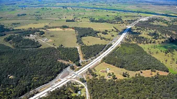 The Pacific Hwy upgrade north of Frederickton looking toward the Macleay River. Photo: Roads and Maritime Services