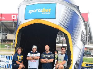 Johnathan Thurston's headgear is big in Townsville