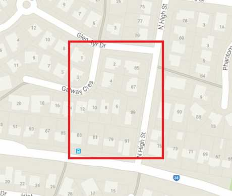 The exclusion zone covers the area bounded by North High Street to Glen Ayr Drive to Galway Crescent and behind to Fernvale Road and then back to the intersection with North High Street.
