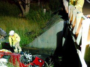 Miracle escape as car crashes into dam spillway