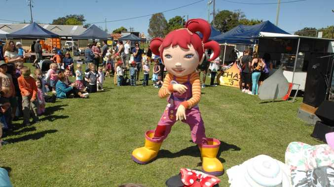 International sensation Dirtgirl sang and danced some of her favourite songs at the Clarence Valley's annual celebration of local food at the Grafton Showground 'Gate to Plate' on Sunday. Photo: Debrah Novak/The Daily Examiner