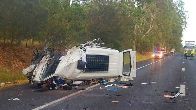 Shortly before 1am on Thursday, 3 March 2016, emergency services were called to a section of Pacific Highway six kilometres south of Grafton following a head-on collision between a northbound van and a southbound B-double truck.The driver of the van sustained serious injuries and was taken to Coffs Harbour Hospital. The truck driver was taken to Grafton Hospital for treatment of minor injuries.