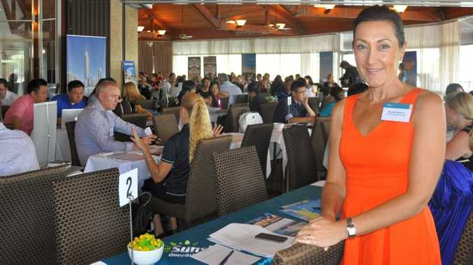 Visit Sunshine Coast Trade and International Manager Rachel Meyer at the inbound tourism workshop at Twin Waters.