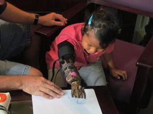 Rotarians construct new hands