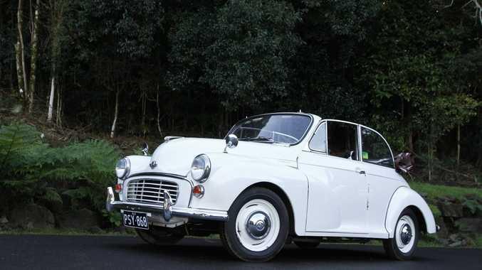NO LOVE: AJ's first car was a Morris Minor Convertible.