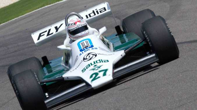 FAVOURITE CAR: Jones' Williams FW07 F1 racer helped him secure the Formula One Driver's Championship for 1980.