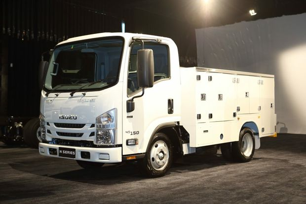 LOCK UP: Innovative Isuzu truck with Service Pack brings eight lockers to make it an appealing choice for tradies who don't have a truck license.