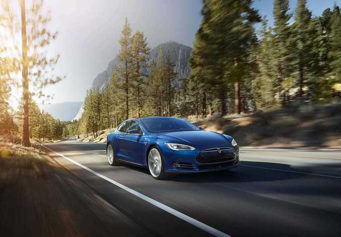 ELECTRIC DREAMS: Alan has been impressed by the Tesla electric car, saying greener technologies are an inevitability for the future.