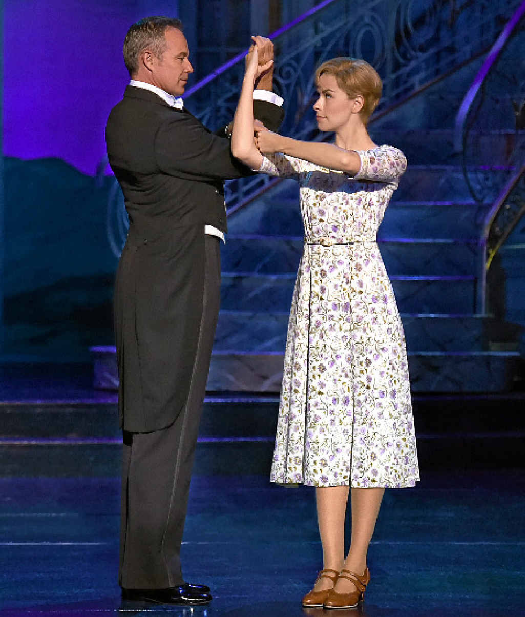 Cameron Daddo and Amy Lehpamer dance in The Sound of Music stage production.